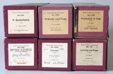 Music rolls for Welte Philharmonie organs