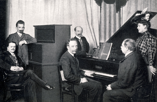 Richard Strauss at the Welte Company's recording piano in 1906