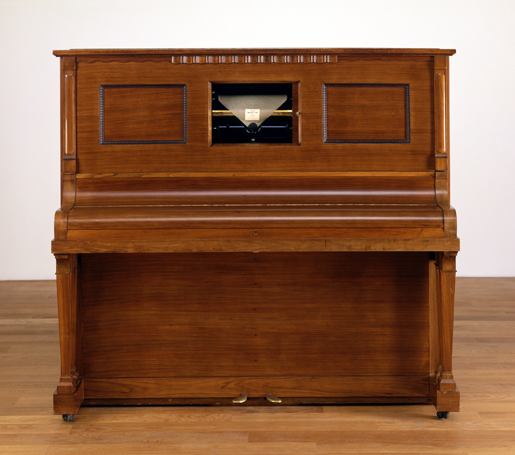 Welte-Mignon Gaveau upright piano, open