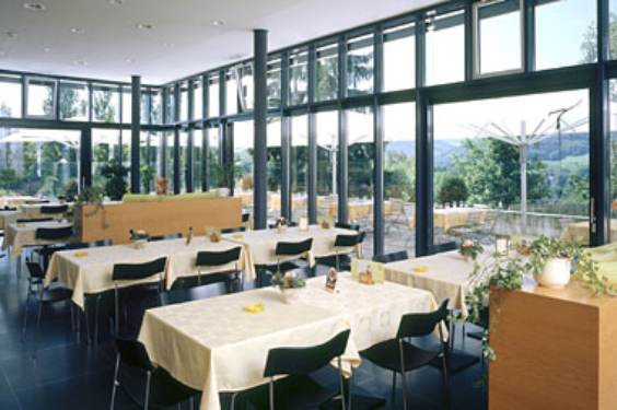 Interior view of the restaurant